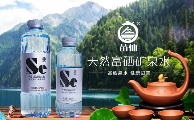 苗仙03天然富硒矿泉水品牌网站-济南网站设计